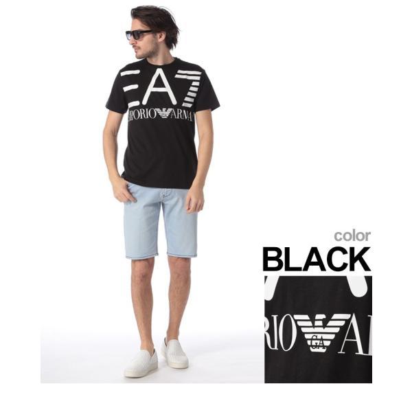 エンポリオ アルマーニ EA7 EMPORIO ARMANI Tシャツ 半袖 ロゴ プリント クルーネック メンズ EA3GPT06PJ02Z|zen|04