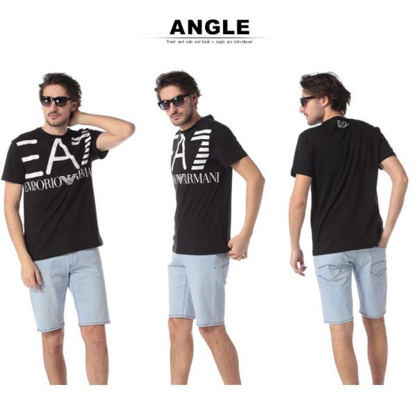 エンポリオ アルマーニ EA7 EMPORIO ARMANI Tシャツ 半袖 ロゴ プリント クルーネック メンズ EA3GPT06PJ02Z|zen|05