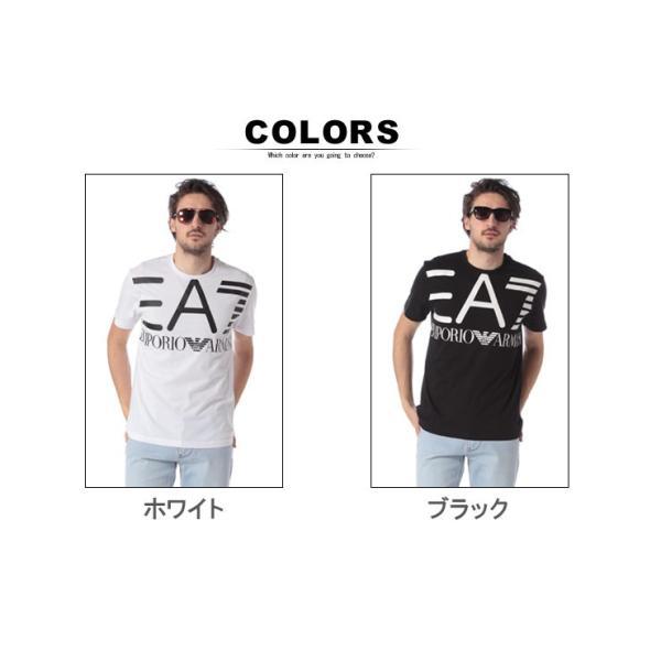 エンポリオ アルマーニ EA7 EMPORIO ARMANI Tシャツ 半袖 ロゴ プリント クルーネック メンズ EA3GPT06PJ02Z|zen|07