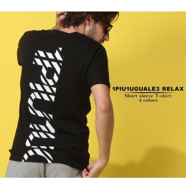 当店独占販売 1PIU1UGUALE3 RELAX ウノ ピュ ウノ ウグァーレ トレ リラックス Tシャツ 半袖 バックプリント Vネック メンズ トップス 1PRUST938SZ|zen|02