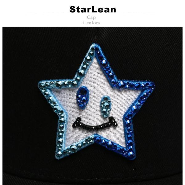 スターリアン StarLean キャップ スワロフスキー Swarovski スマイルスター メッシュ メンズ ブランド レディース 帽子 SESL02D0025|zen|02