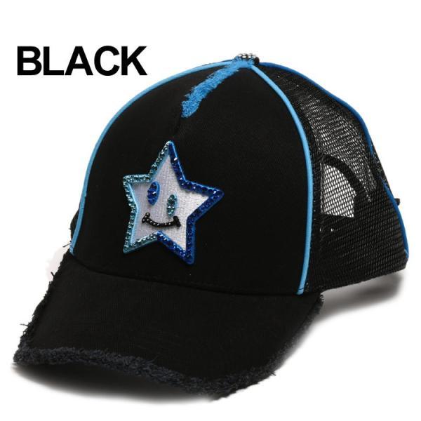 スターリアン StarLean キャップ スワロフスキー Swarovski スマイルスター メッシュ メンズ ブランド レディース 帽子 SESL02D0025|zen|03