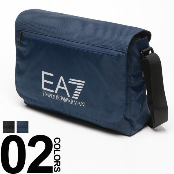 エンポリオ アルマーニ EMPORIO ARMANI EA7 ナイロン ロゴプリント メッセンジャーバッグ ショルダーバッグ 275660 ブランド メンズ|zen