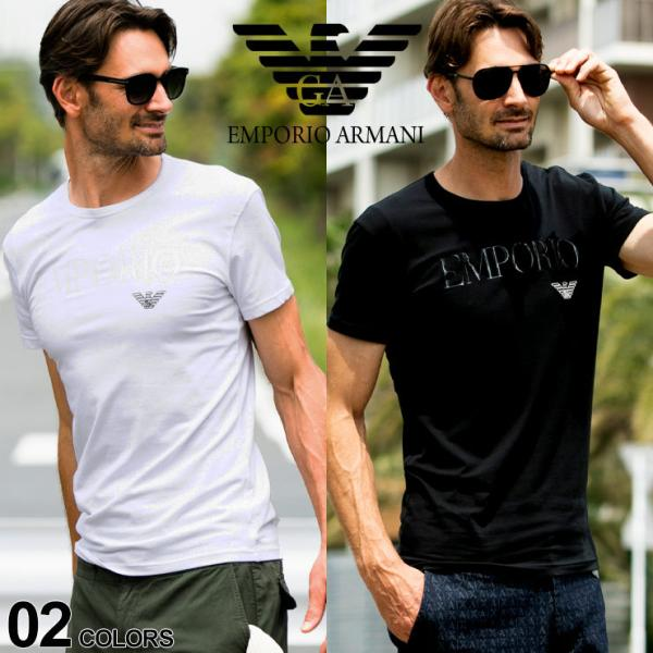 エンポリオアルマーニ EMPORIO ARMANI フロントロゴ クルーネック 半袖 アンダーTシャツ EA111035CC716|zen