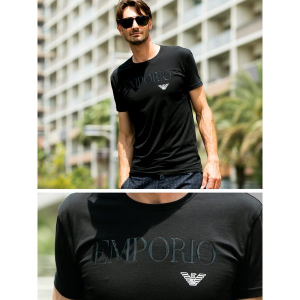 エンポリオアルマーニ EMPORIO ARMANI フロントロゴ クルーネック 半袖 アンダーTシャツ EA111035CC716|zen|02
