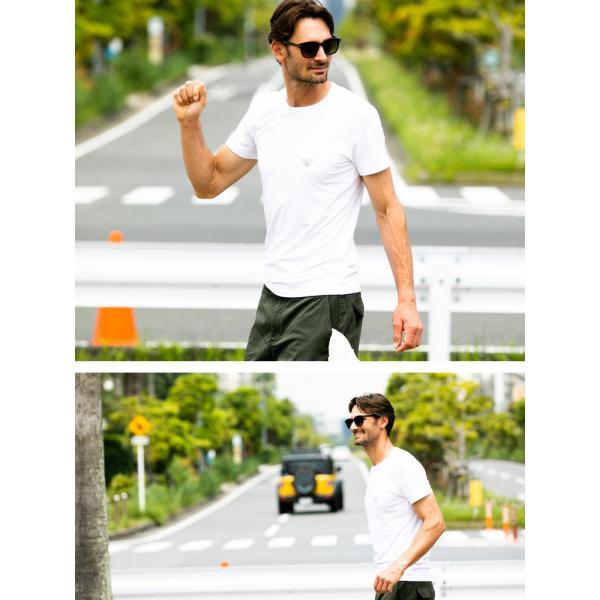 エンポリオアルマーニ EMPORIO ARMANI フロントロゴ クルーネック 半袖 アンダーTシャツ EA111035CC716|zen|03