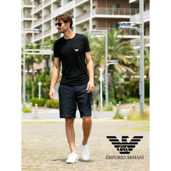 エンポリオアルマーニ EMPORIO ARMANI フロントロゴ クルーネック 半袖 アンダーTシャツ EA111035CC716|zen|04