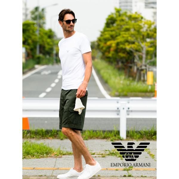 エンポリオアルマーニ EMPORIO ARMANI フロントロゴ クルーネック 半袖 アンダーTシャツ EA111035CC716|zen|05
