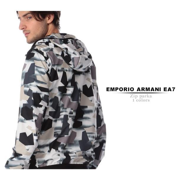 エンポリオ アルマーニ EMPORIO ARMANI EA7 ナイロンジャケット 迷彩 ナイロンパーカー デジタルカモ WHITE ブランド メンズ ライトアウター EA3GPB05PN28Z|zen|02