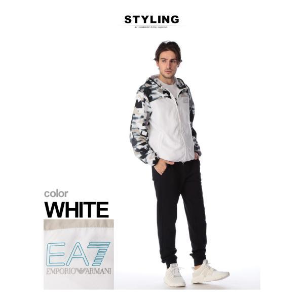 エンポリオ アルマーニ EMPORIO ARMANI EA7 ナイロンジャケット 迷彩 ナイロンパーカー デジタルカモ WHITE ブランド メンズ ライトアウター EA3GPB05PN28Z|zen|03