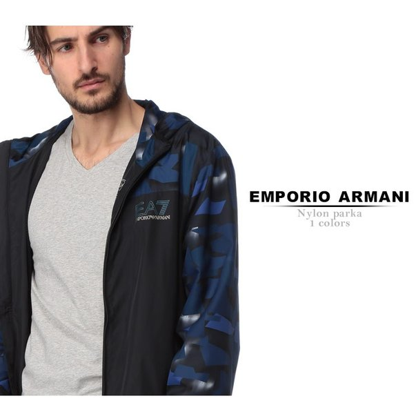 エンポリオ アルマーニ EMPORIO ARMANI EA7 ナイロンジャケット 迷彩 フード ナイロンパーカー ブランド メンズ アウター EA3GPB05PN28Z zen 02