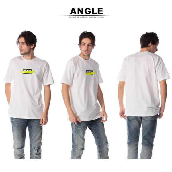 ディーゼル DIESEL Tシャツ 半袖 ロゴ プリント 蛍光テープ クルーネック ブランド メンズ トップス 反射板 DSSU2NPATI zen 05