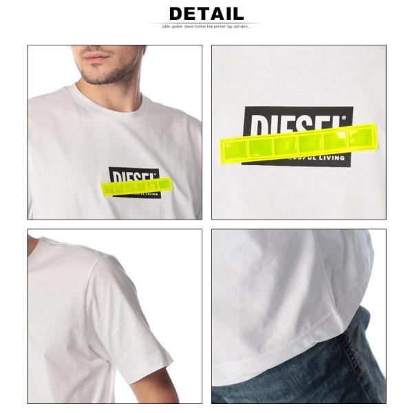 ディーゼル DIESEL Tシャツ 半袖 ロゴ プリント 蛍光テープ クルーネック ブランド メンズ トップス 反射板 DSSU2NPATI zen 06