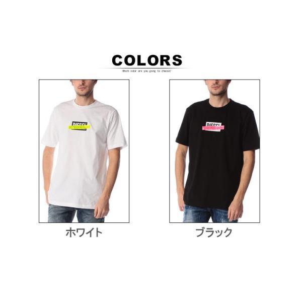 ディーゼル DIESEL Tシャツ 半袖 ロゴ プリント 蛍光テープ クルーネック ブランド メンズ トップス 反射板 DSSU2NPATI zen 07