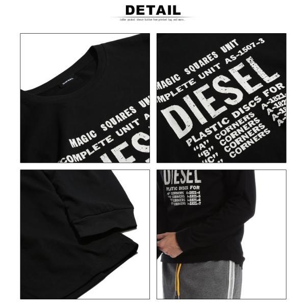 ディーゼル DIESEL Tシャツ 長袖 ロゴ プリント クルーネック ロンT ブランド メンズ トップス カットソー DSSCDT091A|zen|06