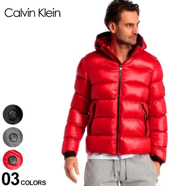 カルバンクライン メンズ ダウン Calvin Klein CK ダウンジャケット ナイロン フード パーカー ブランド アウター ブルゾン フード取り外し CKCM918826 zen