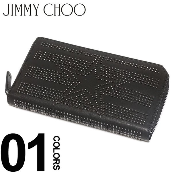 ジミーチュウ JIMMY CHOO 長財布 レザー スター スタッズ ラウンドジップ ロングウォレット ブランド メンズ レディース サイフ 星 JCCARNABYTAO wallet|zen