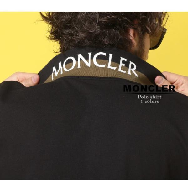 モンクレール MONCLER ポロシャツ 半袖 鹿の子 コットン 襟裏 ロゴ ブランド メンズ トップス ポロ プリント MC830515084556|zen|02