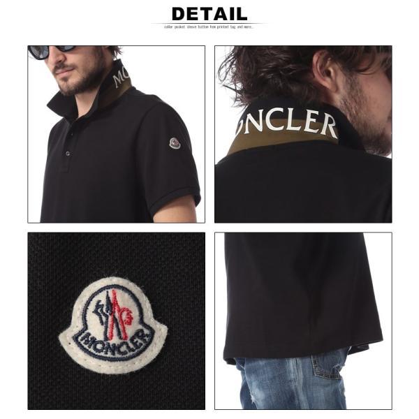 モンクレール MONCLER ポロシャツ 半袖 鹿の子 コットン 襟裏 ロゴ ブランド メンズ トップス ポロ プリント MC830515084556|zen|06