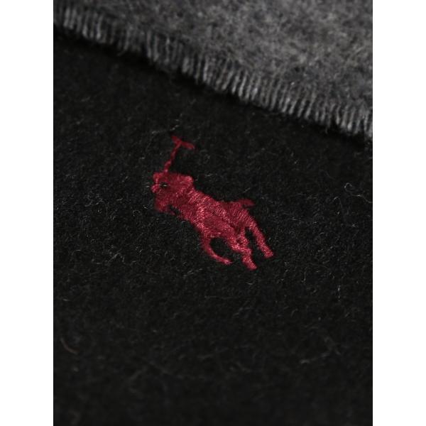 ポロ ラルフローレン マフラー POLO RALPH LAUREN リバーシブル ウール ロゴ 無地 プレーン ブランド メンズ レディース RLEPCO455 zen 06