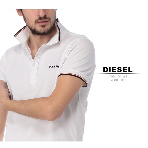 ディーゼル DIESEL ポロシャツ 半袖 鹿の子 ライン ブランド メンズ トップス ポロ コットン ロゴ DSSI29MXZA|zen|02