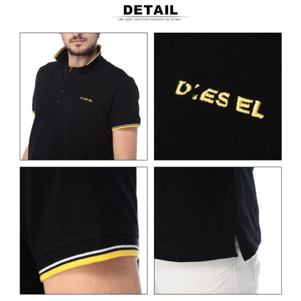 ディーゼル DIESEL ポロシャツ 半袖 鹿の子 ライン ブランド メンズ トップス ポロ コットン ロゴ DSSI29MXZA|zen|06