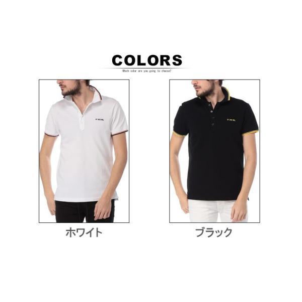 ディーゼル DIESEL ポロシャツ 半袖 鹿の子 ライン ブランド メンズ トップス ポロ コットン ロゴ DSSI29MXZA|zen|07