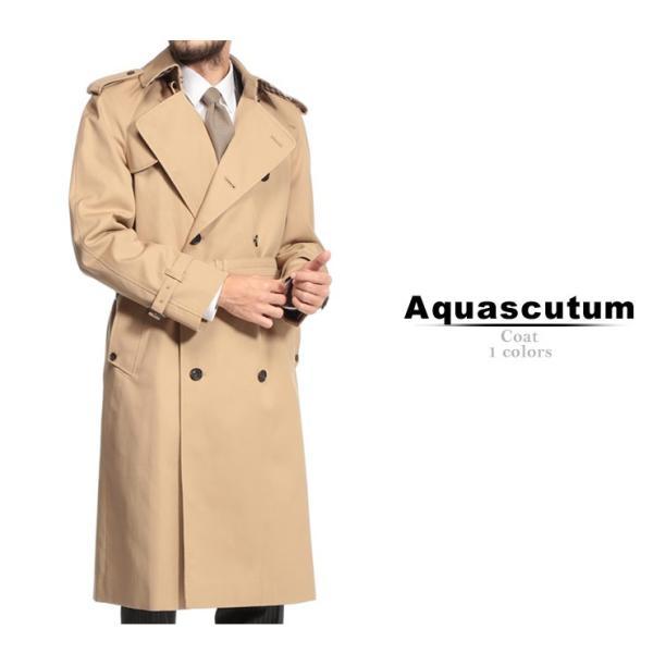 アクアスキュータム Aquascutum トレンチコート ダブル BOGART ボガート ロング ダブルトレンチ ブランド メンズ ビジネスコート AQBOGART8F zen 02