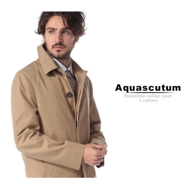 アクアスキュータム コート ステンカラーコート Aquascutum ステンカラー ツイル ライナー付き BROADGATE ブランド メンズ ビジネス AQBROADGATBOL9S|zen|02