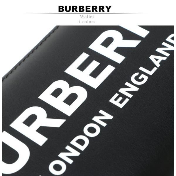 バーバリー BURBERRY 財布 レザー ロゴ プリント ラウンドジップ 長財布 ロング ウォレット BB8009211|zen|02