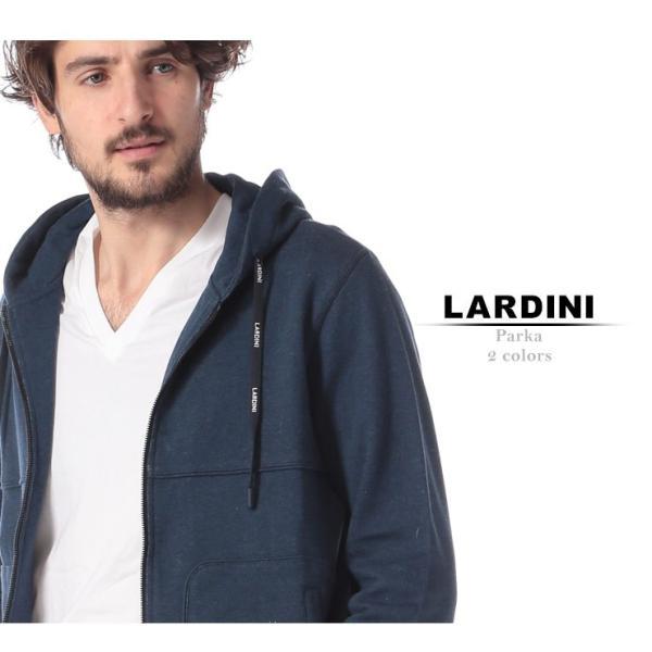 ラルディーニ LARDINI パーカー スウェット フルジップ ブランド メンズ トップス スエット フード ロゴ ドローコード LDLFML3EG52056|zen|02