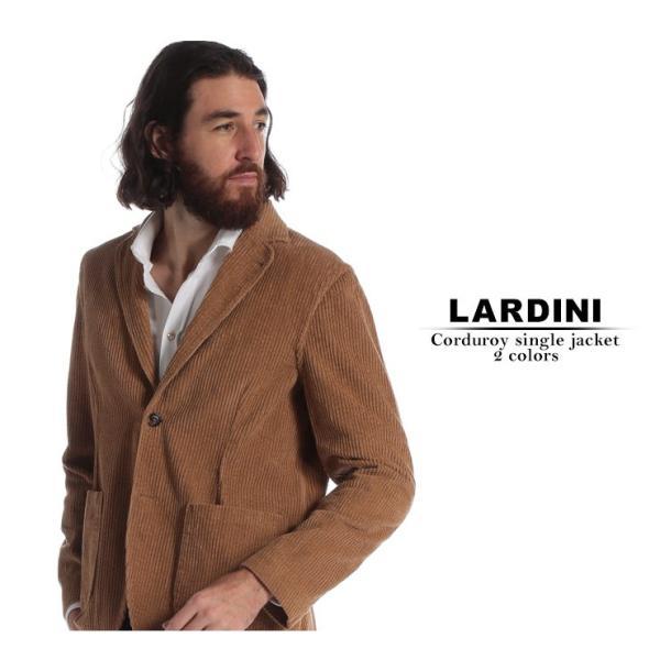 ラルディーニ ジャケット LARDINI コーデュロイ シングル 2ツ釦 2B ブランド メンズ アウター テーラード コットン LDAMAC1094|zen|02