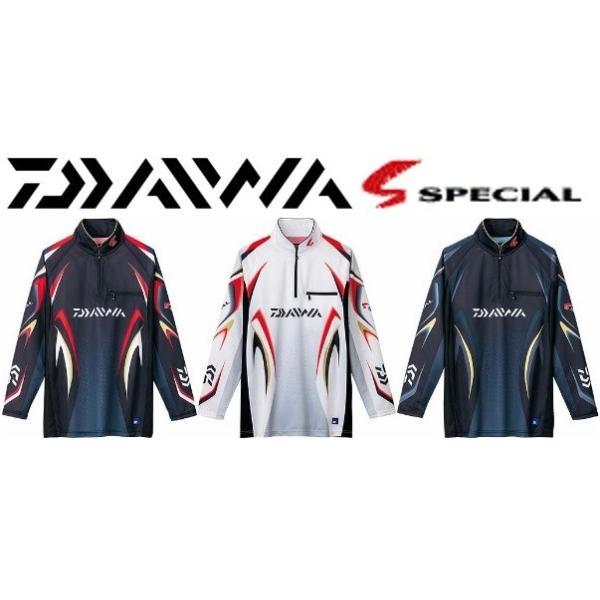 ダイワ スペシャル アイスドライ ジップアップ 長袖 メッシュシャツ DE-7006 /M/L/XL 鮎 ウェア|zeniya-tsurigu