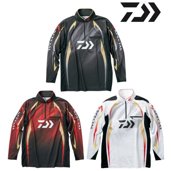 ダイワ スペシャル アイスドライ ジップアップ長袖メッシュシャツ DE-70009 /M/L/XL 鮎 ウェア|zeniya-tsurigu