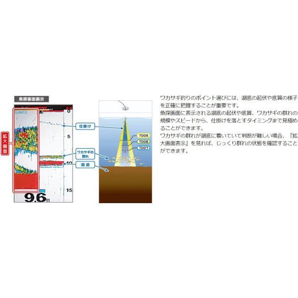 ホンデックス 魚探 PS-500C TD07 ワカサギパック zeniya-tsurigu 03