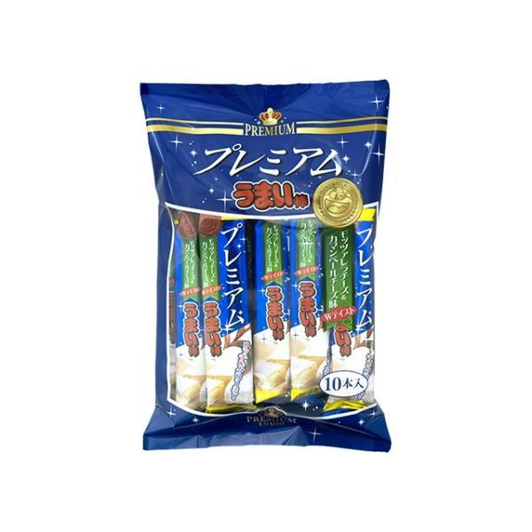 プレミアムうまい棒 モッツァレラ&カマンベール味 10本入 (株)やおきん