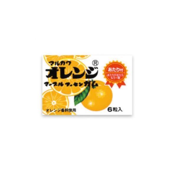オレンジマーブルガム【定価20円】 (当たり付) 6粒入×33個+あたり分3個入 丸川製菓(株)