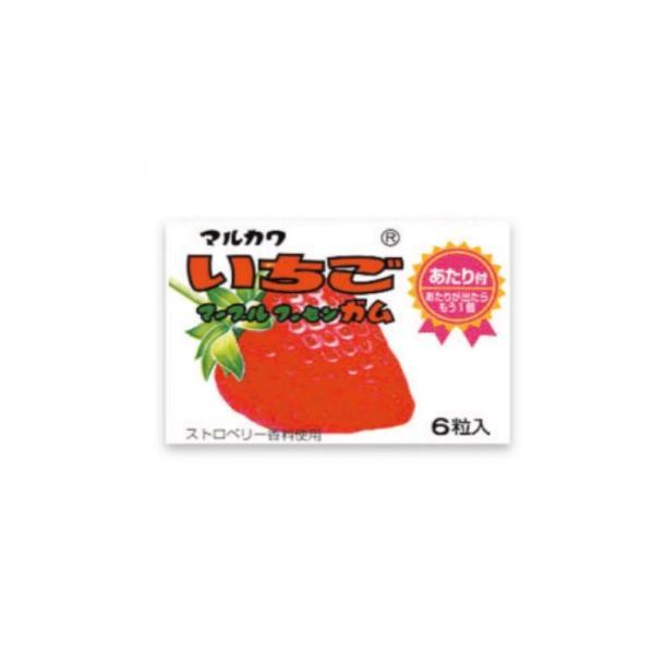 いちごマーブルガム【定価20円】 (当たり付) 6粒入×33個+あたり分3個入 丸川製菓(株)