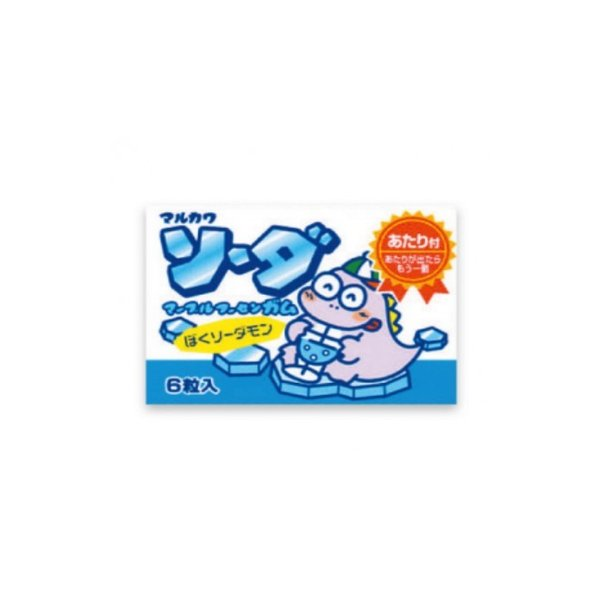 ソーダマーブルガム【定価20円】 (当たり付) 6粒入×33個+あたり分3個入 丸川製菓(株)