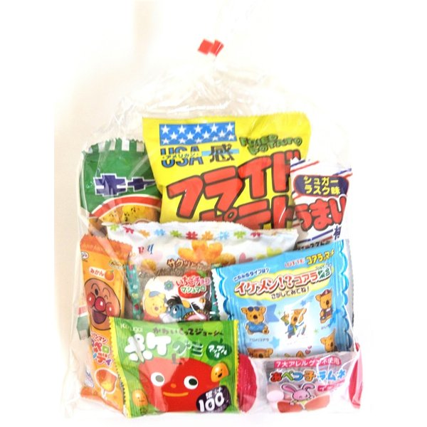 200円 お菓子袋詰め合わせ  C 【幼児向き】【本州、四国、九州への発送に限り、数量関係なく1個口送料でお届け可能】