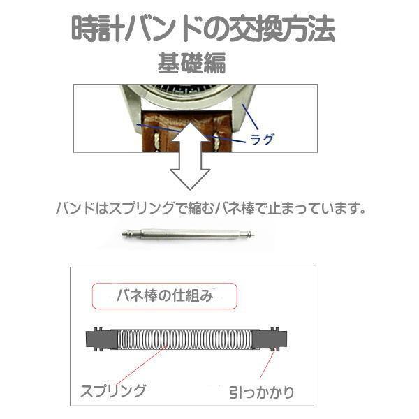 マルマン 時計バンド 時計ベルト 婦人皮革バンド カーフ 黒 時計際幅 8mm 美錠幅 6mm  DM便利用で送料無料(代引き不可) zennsannnet 04