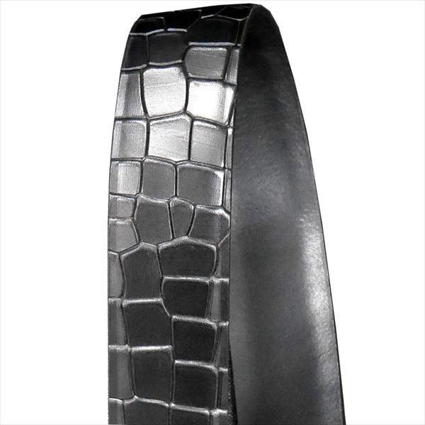 日本謹製メンズベルト クロコダイル型押し ソフトマット仕上げ ブラック 135100-10 ギフト プレゼント zennsannnet 04