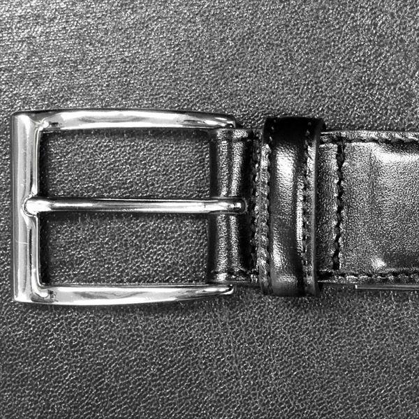 日本謹製メンズベルト ショルダー革 タンニンなめし ブラック 135200-10 ギフト プレゼント|zennsannnet|02
