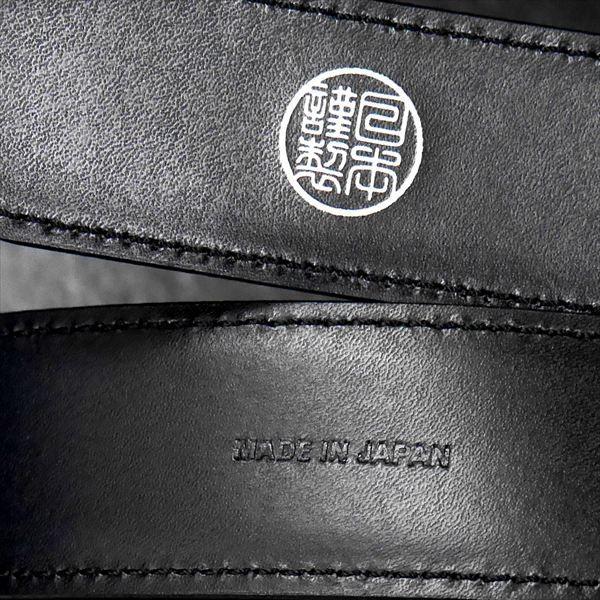 日本謹製メンズベルト ショルダー革 タンニンなめし ブラック 135200-10 ギフト プレゼント|zennsannnet|03