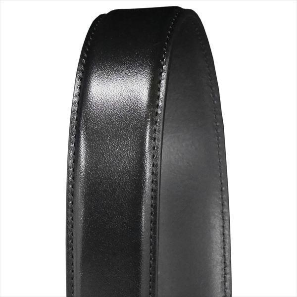 日本謹製メンズベルト ショルダー革 タンニンなめし ブラック 135200-10 ギフト プレゼント|zennsannnet|04
