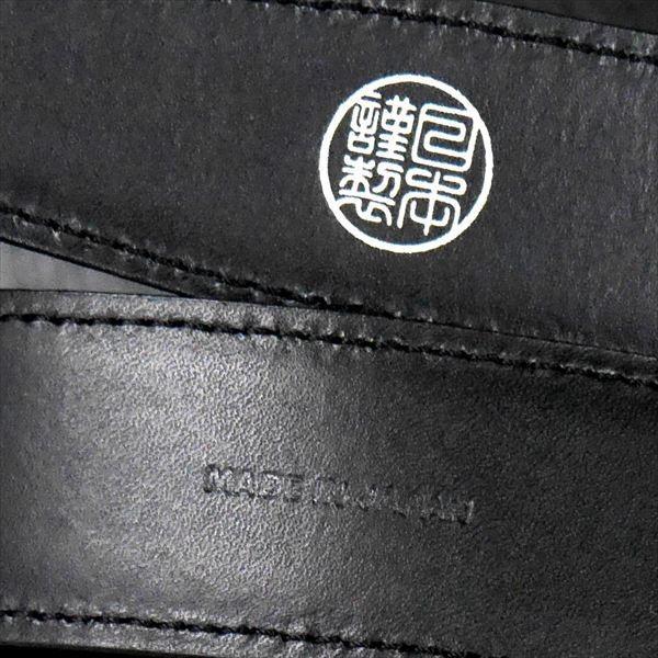 日本謹製メンズベルト 牛革 オイル加工スムース仕上げ ブラック 135201-10 ギフト プレゼント|zennsannnet|03