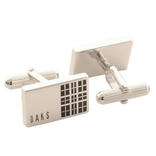 ダックス DAKS カフスボタン ロジウムメッキ カフリンクス  DC12042 エポキシ ギフト プレゼント 贈答品|zennsannnet