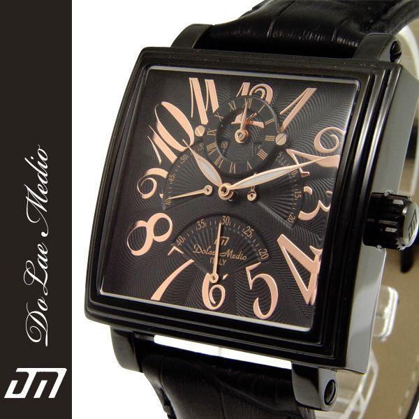 ドルチェ・メディオ Dolce Medio メンズ腕時計 自動巻き レトログラード機構 オートマチック  DM8009-IPBK zennsannnet