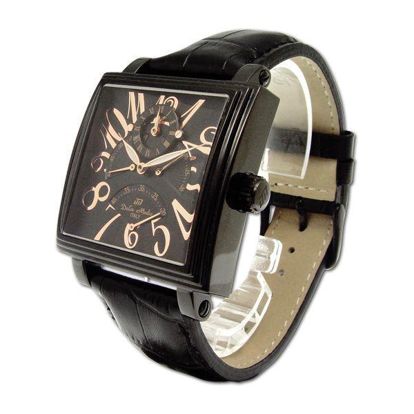 ドルチェ・メディオ Dolce Medio メンズ腕時計 自動巻き レトログラード機構 オートマチック  DM8009-IPBK zennsannnet 02