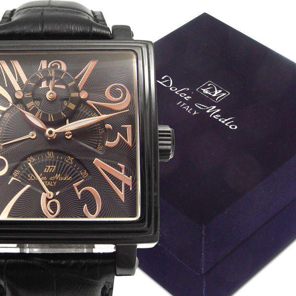 ドルチェ・メディオ Dolce Medio メンズ腕時計 自動巻き レトログラード機構 オートマチック  DM8009-IPBK zennsannnet 03